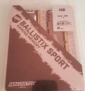 Оперативная память 8ĢB 2x4gb DDR4 2666 MHZ