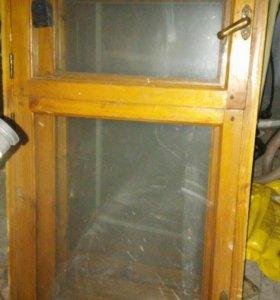 Деревянное двойное окно с рамой