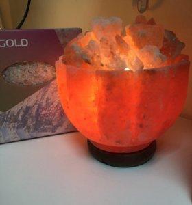 Соляная лампа «Ваза с камнями»