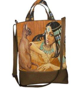 Новая сумка с авторским принтом