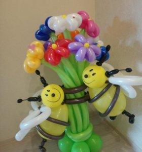 Цветы и букеты из воздушных шаров.