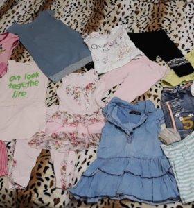 Вещи пакетом на девочку 2- 4 года