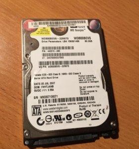 Жесткий диск SATA 80 GB