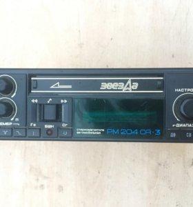 Магнитола Звезда кассетная оригинальная 2108 2109