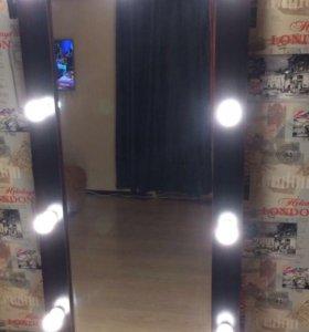 Зеркало с подсветкой(гримерное)