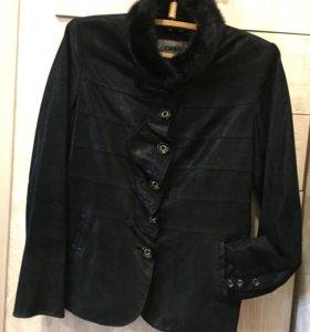 Куртка кожа мех натуральный