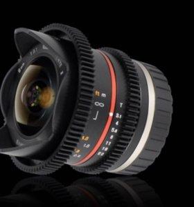 Samyang 8mm T3.1 Cine UMC Fish-eye II vdslr Canon