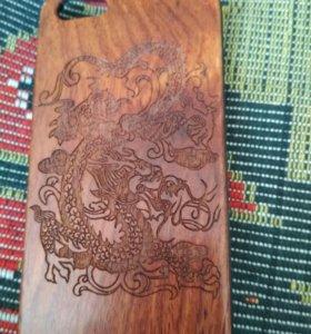 Деревянный чехол для Айфона 5