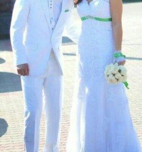 Свадебное платье и костюм после химчистки