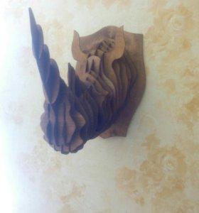 """""""Трофейная"""" голова носорога"""