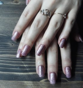 Наращивание ногтей.покрытие гель лаком.