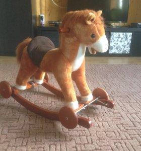 Качалка-каталка игрушечная лошадь