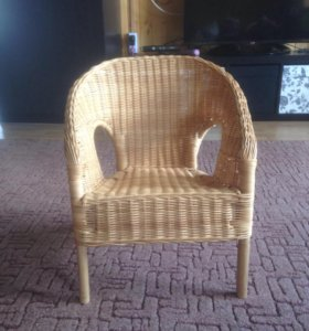 Детский стул плетенный