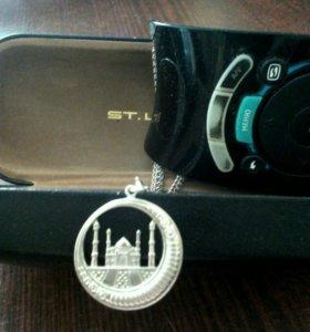 Кулон(мечеть) серебро