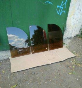 Полки новые из тонированного стекла