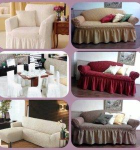 Новый чехол на угловой диван