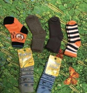 Набор новых носочков от 3х - до  12 месяцев