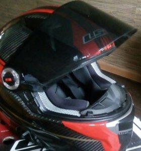 Мото шлем ( карбон )