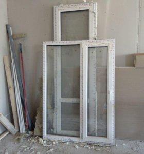 Окна и балконные двери новые 1630х1180 и 2240х700
