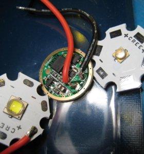Ультрафиолетовый светодиод 365нм, драйвер, SST-40