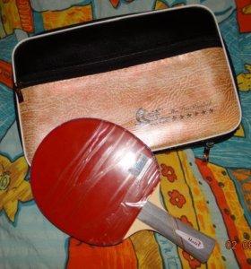 Новая ракетка с сумкой 6 звезд Ma Lin ML 6002