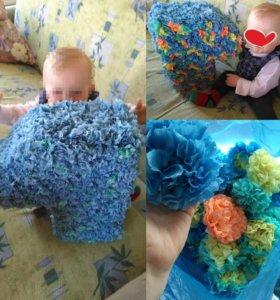 Единица и цветы