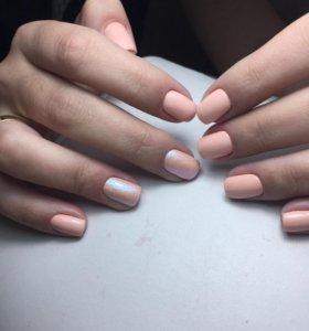 Маникюр,покрытие гель лак на натуральные ногти