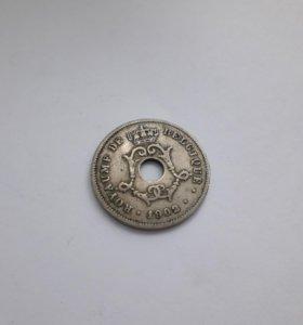 Бельгийская монета 1902 года