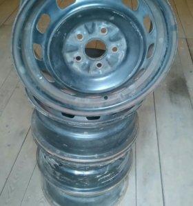Штампованные диски r14 5/100