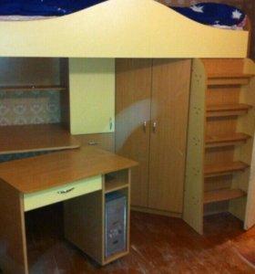 Школьный уголок +кровать