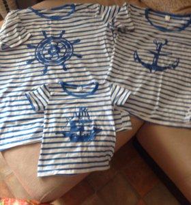 Family look футболки мама папа ребёнок