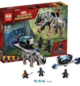 Lego чёрная пантера 76099 реплика lepin. Нов 256 д