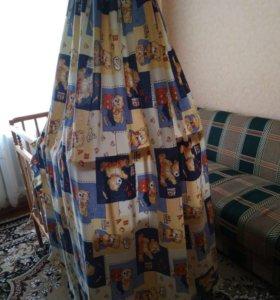 Детская кроватка, матрас, балдахин, бортики