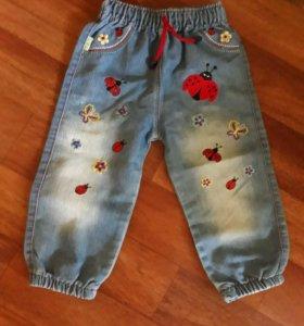 джинсы на девочку размер 98
