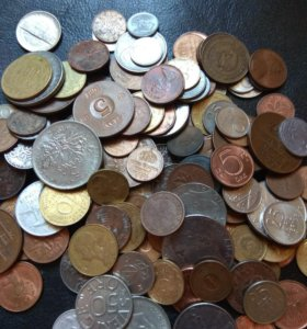 Монеты разных стран мира поштучно, по 20р. За шт.