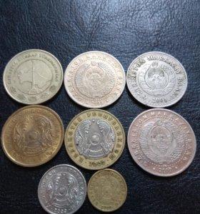Монеты Туркмении, Казахстана и Узбекистана
