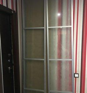 Двери стеклянные раздвижные