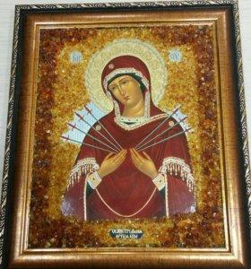 Икона с янтарем
