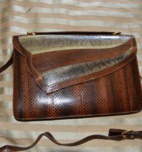 сумка из натуральной змеиной кожи