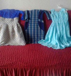 Три платья на девочку 10-11 лет