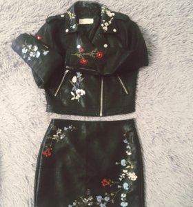 Комплект ( куртка+ юбка)