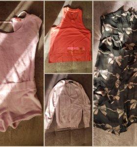 Юбки, блузки, брюки, пиджак, платье