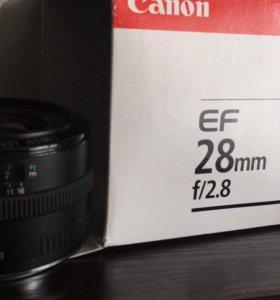 Объектив canon 28 mm f/2.8