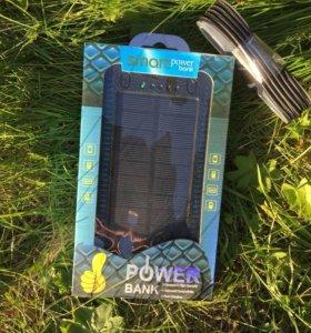 Powerbank 25000 ma/h на солнечной батарее