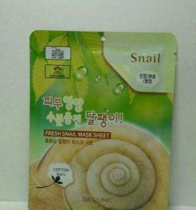 Маска для лица 3W Clinic Fresh Snail Mask Sheet