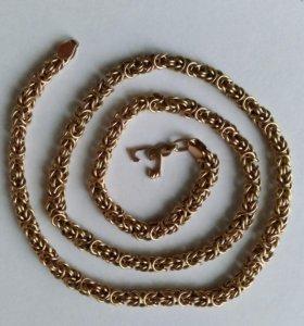Золотая цепочка 585 пробы, «Королевское» плетение