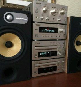 Teac H-300 HI-FI мини-система + колонки BW