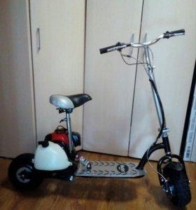 Мотосамокат вектор 4 (скутер,мотороллер)бу