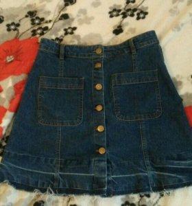 Новая джинсовая юбка раз 44/s