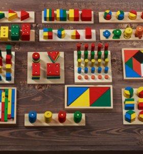 Детский развивающий набор из 14 игр Монтессори